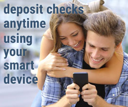 Deposit checks anytime using your smart device